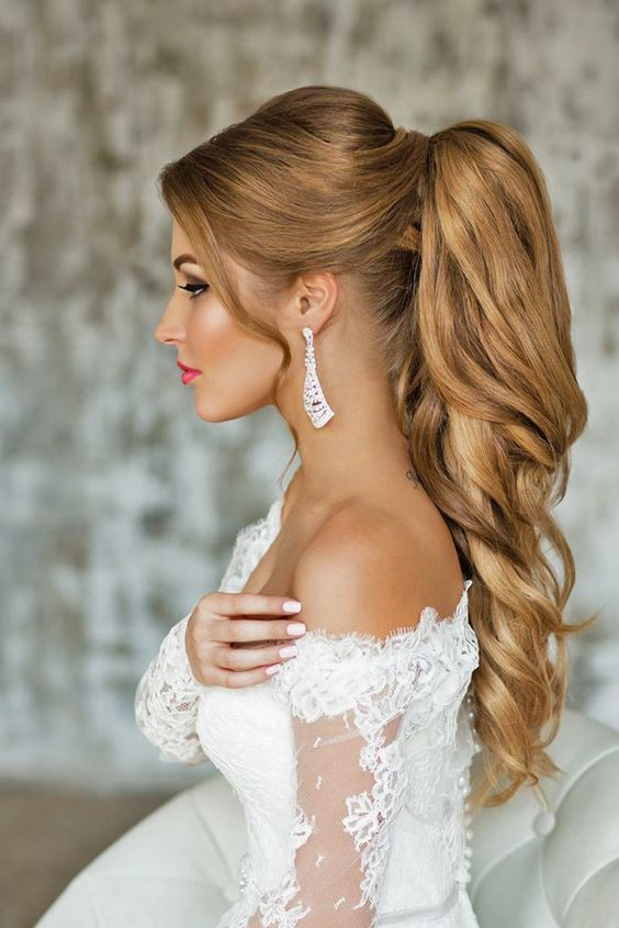 Fashionable styling and hairstyles fashionable wedding hairstyles 2017 loose tails junglespirit Gallery